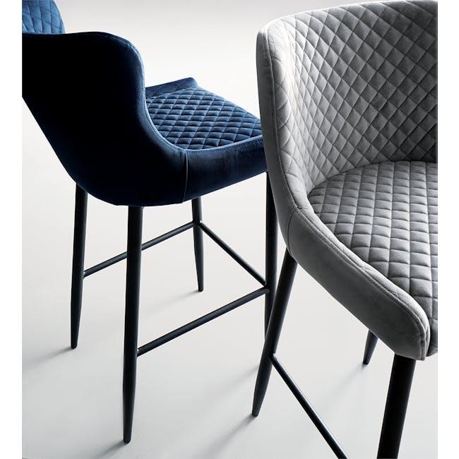 Tobias Counter Chair - Grey (Velvet) - 1