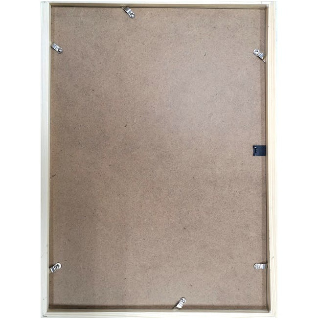 12-Inch Square Wooden Frame - White - 5