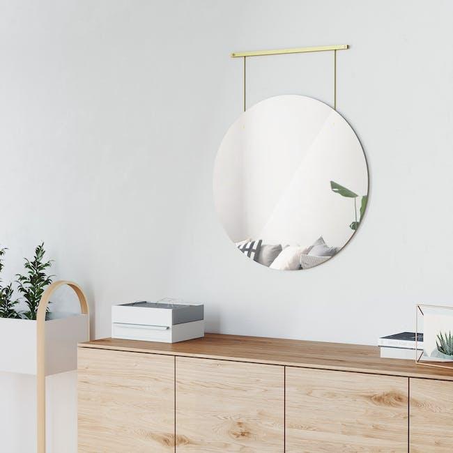 Exhibit Suspended Mirror 61 cm - Brass - 6