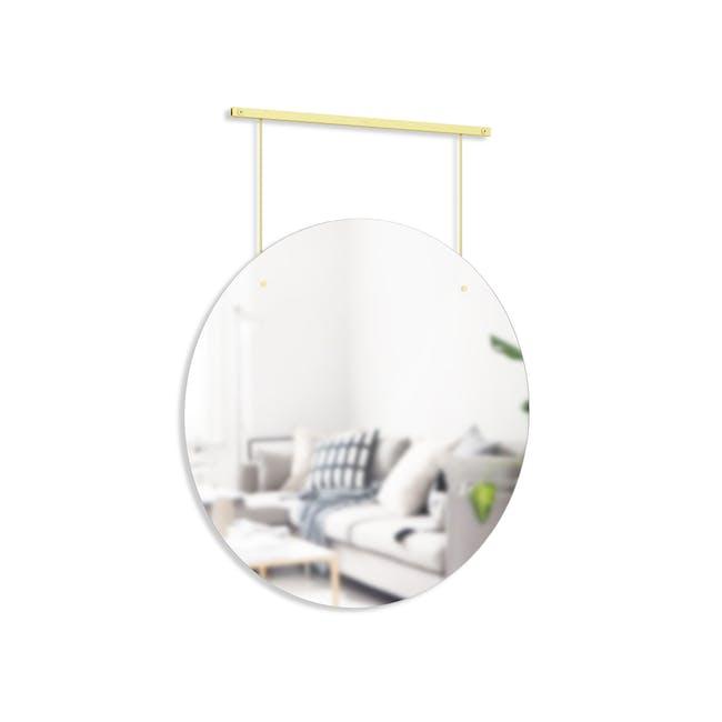 Exhibit Suspended Mirror 61 cm - Brass - 1