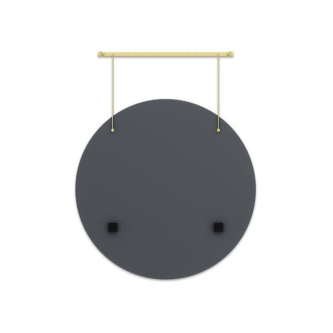 Exhibit Suspended Mirror 61 cm - Brass - 4