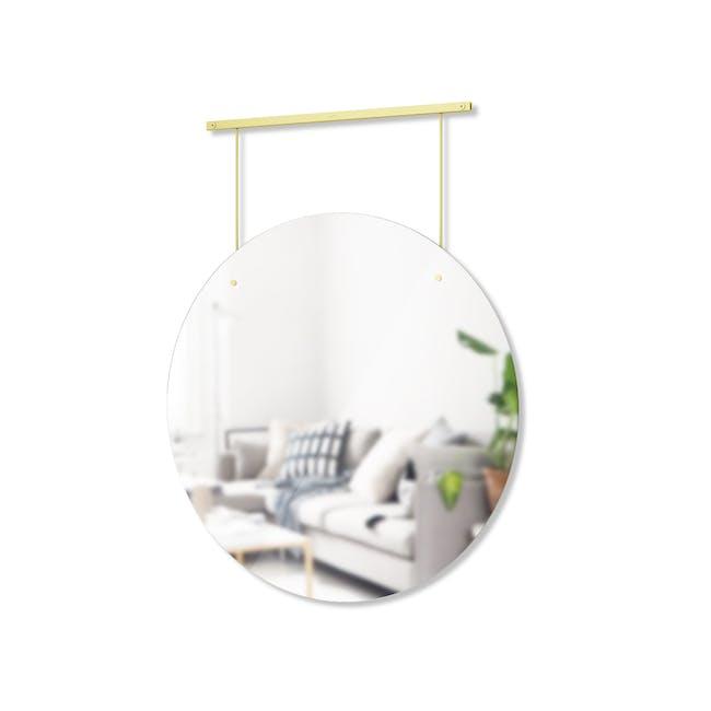 Exhibit Suspended Mirror 61 cm - Brass - 2