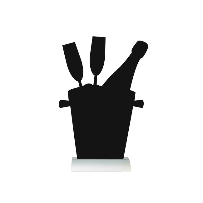Securit Champagne Bucket-Shaped Table Chalkboard - 0