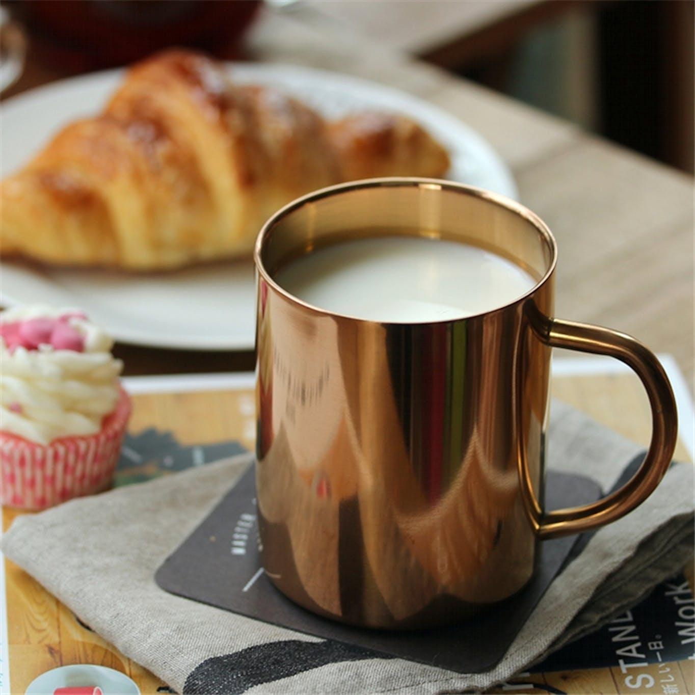 Copper drinking mug