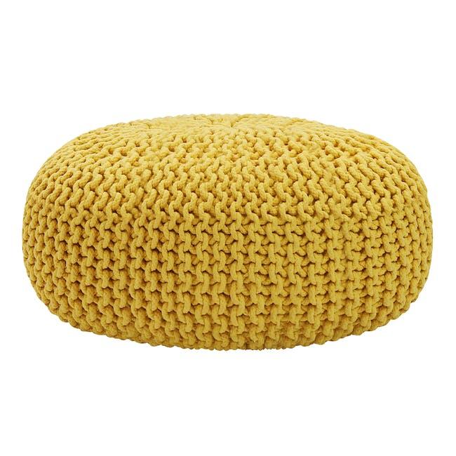 Maui Knitted Pouf - Yellow - 0