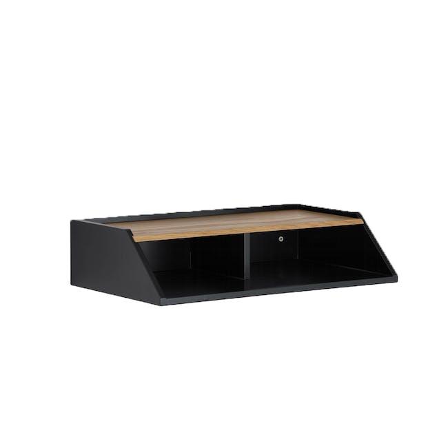 Wayland Storage Wall Shelf - Black - 0
