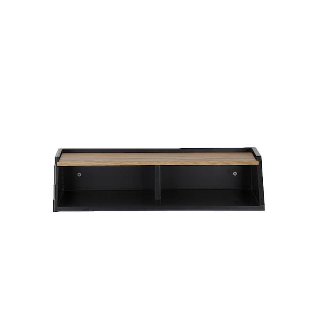 Wayland Storage Wall Shelf - Black - 2
