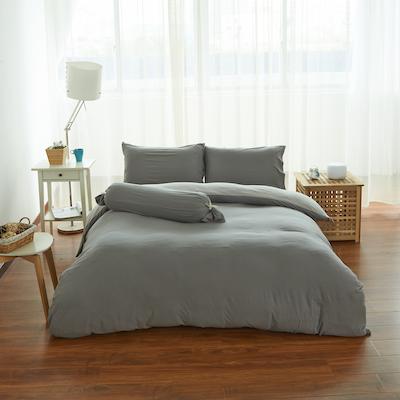 (King) Cotton Pure 6-pc Bedding Set - Ash Grey - Image 1
