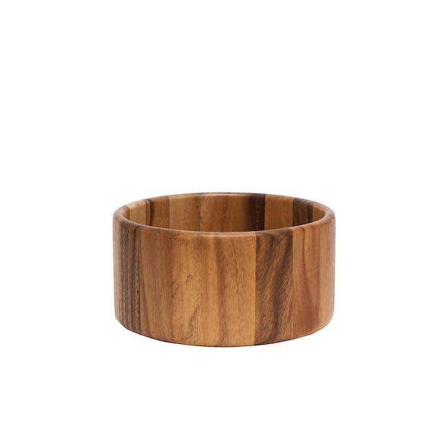 Acacia Wood Small Straight Side Bowls - Set of 4 - 1