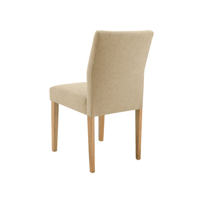 Larisa Dining Table 1.6m with 4 Ladee Chairs in Sand and Pale Silver - 13