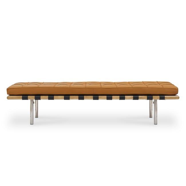 Barcelona 3 Seater Bench Replica - Tan (Genuine Cowhide) - 1