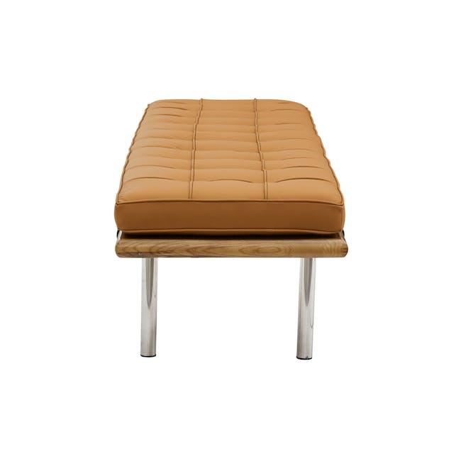 Barcelona 3 Seater Bench Replica - Tan (Genuine Cowhide) - 2