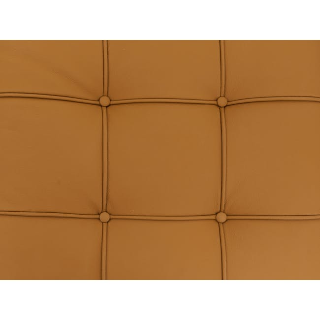 Barcelona 3 Seater Bench Replica - Tan (Genuine Cowhide) - 5