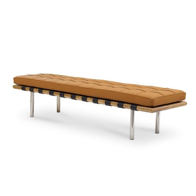 Barcelona 3 Seater Bench Replica - Tan (Genuine Cowhide) - 0