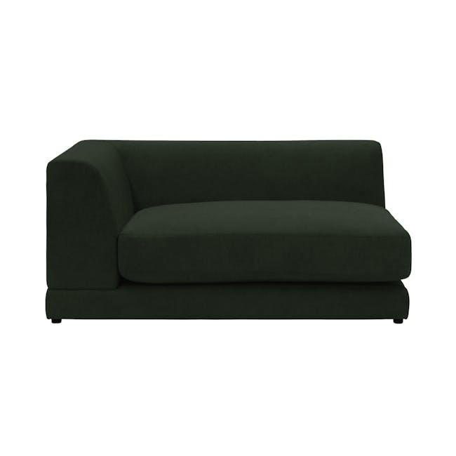 Abby L-Shaped Lounge Sofa - Olive - 2