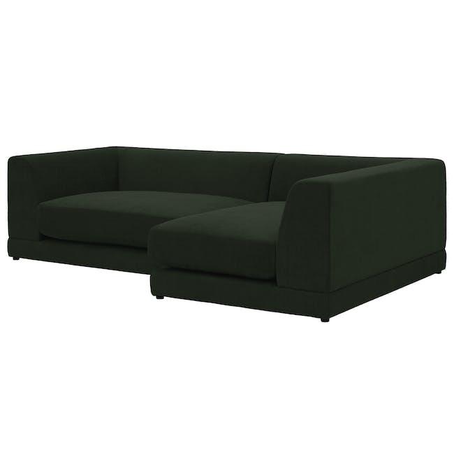 Abby L-Shaped Lounge Sofa - Olive - 1