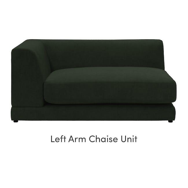 Abby L-Shaped Lounge Sofa - Olive - 6