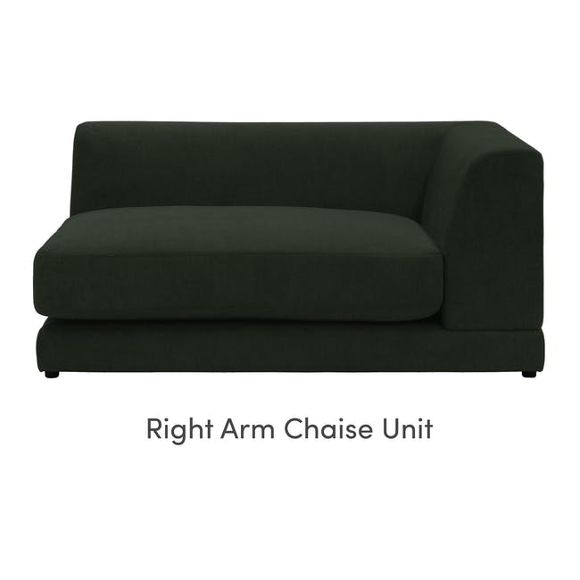 Abby L-Shaped Lounge Sofa - Olive - 7