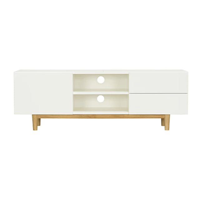Aalto TV Cabinet 1.6m - White, Natural - 4