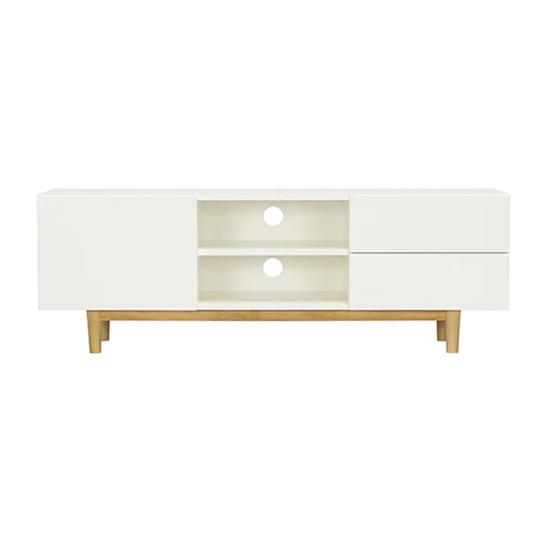 Malmo - Aalto TV Cabinet 1.6m - White, Natural