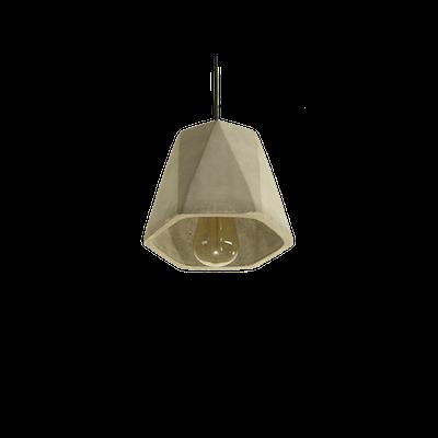 Keisha Concrete Hexangonal Lamp - Image 1