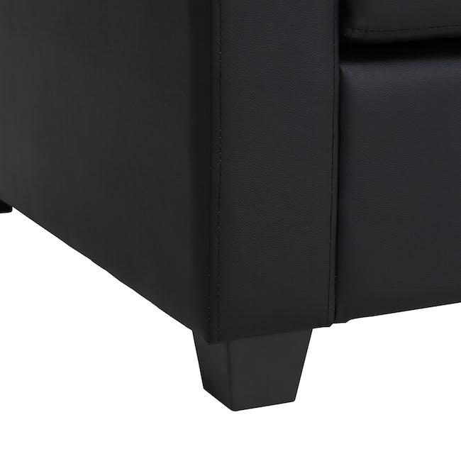 Baleno 2 Seater Sofa - Espresso (Faux Leather) - 7