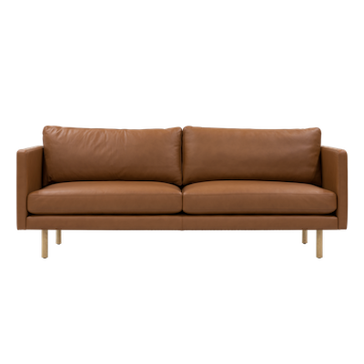 Rexton 3 Seater Sofa - Tawny Cowhide, Down Feathers - Image 1