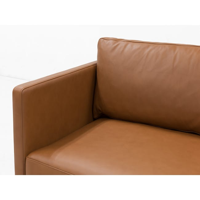 Rexton 3 Seater Sofa - Tawny (Genuine Cowhide), Down Feathers - 3