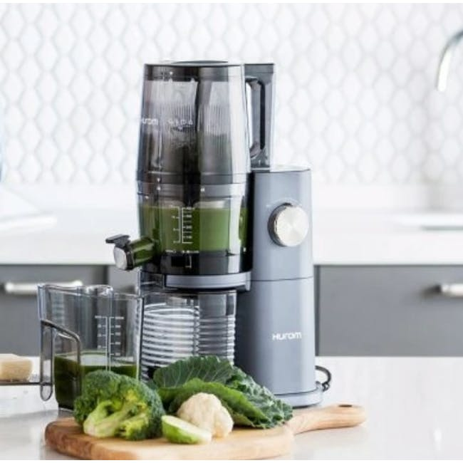 Hurom HI-3400 Cold Pressed Slow Fruit Juicer Premium Series - Midnight Blue - 6