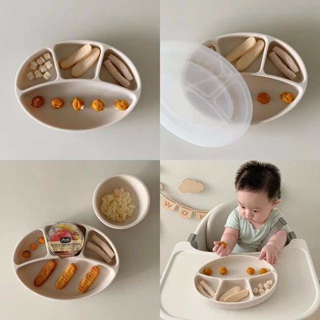 MODU'I Silicone Suction Plates - Butter - 6
