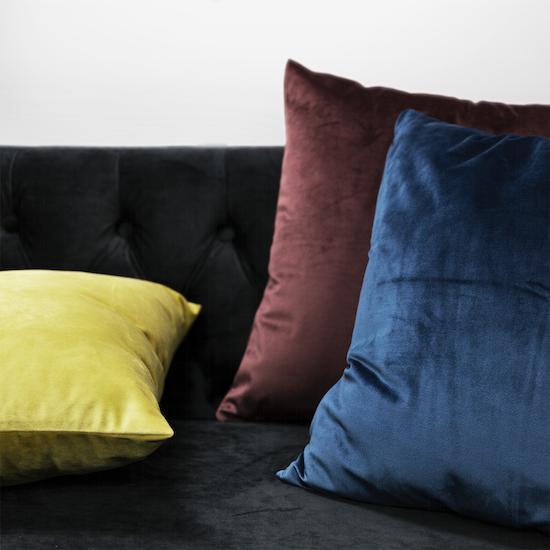 HipVan Bundles - Alyssa Velvet Cushion - Mustard