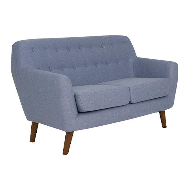 Emma 3 Seater Sofa with Emma 2 Seater Sofa - Dusk Blue - 14