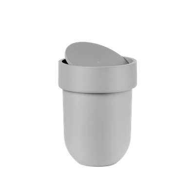 Touch Waste Can with Lid - Grey - Image 2