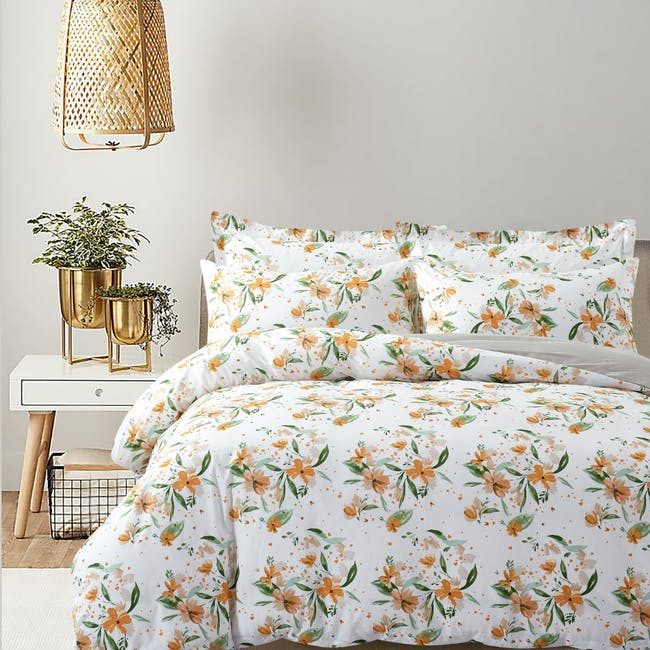 Marie Claire Lumine Cotton Printed Bed Set - Noelle (2 Sizes) - 0