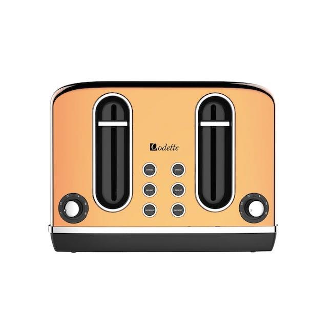 Odette Streamline 4-Slice Bread Toaster - Copper - 0