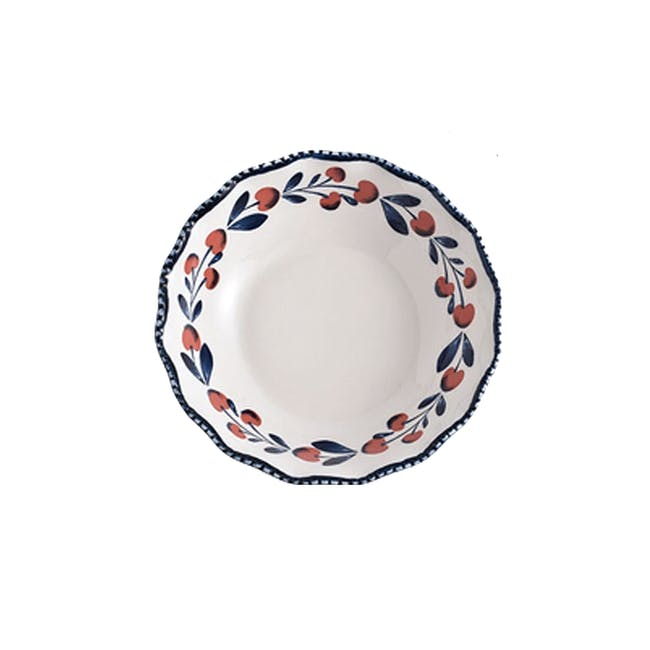 Table Matters Holiday Berry Hand Painted Scallop Lace Bowl - 0