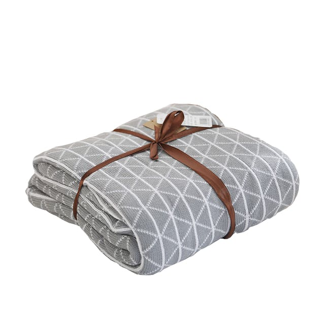 Scandi Throw Blanket 120 x 180 cm - Grey - 0