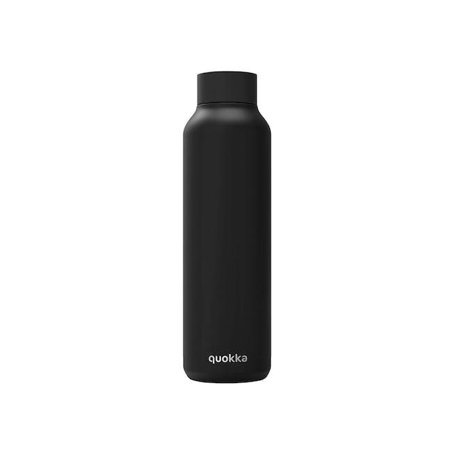 Quokka Stainless Steel Bottle Solid - Jet Black 630ml - 0