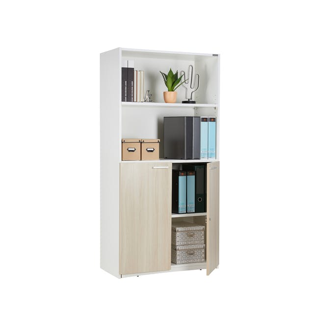 Archie Tall Cabinet - White - 1