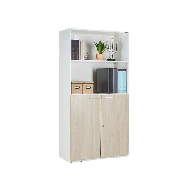 Archie Tall Cabinet - White - 3