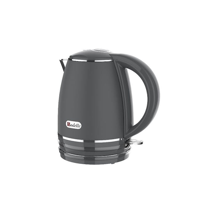 Odette Riviera 1L Insulated Double Wall Cool Touch Electric Kettle - Grey - 1