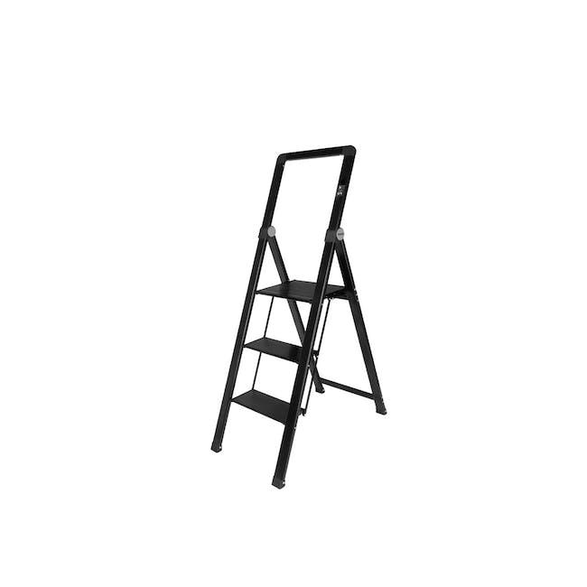 HOUZE Slim Aluminium 3 Tier Ladder - 0
