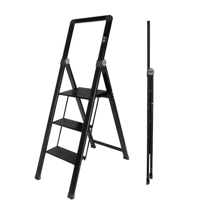HOUZE Slim Aluminium 3 Tier Ladder - 1