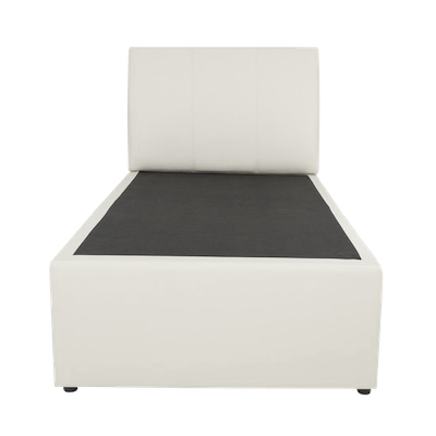ESSENTIALS Trundle Bed - White (Faux Leather)- 2 Sizes - Image 2