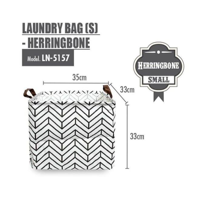 HOUZE Small Laundry Bag - Herringbone - 1