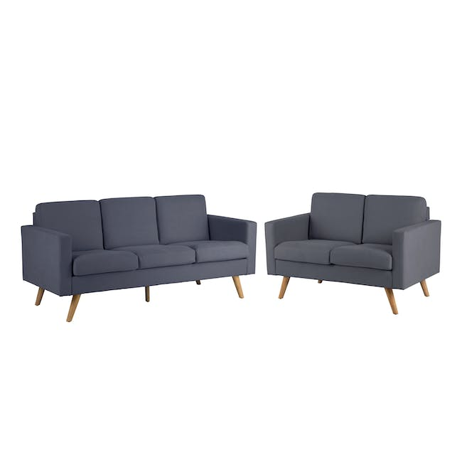 Helen 3 Seater Sofa with Helen 2 Seater Sofa - Hailstorm - 0