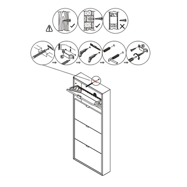 ( As-is ) Quen 4 Door Shoe Cabinet - Grey - 1 - 9
