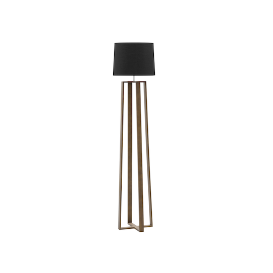 Springbud - Amber Floor Lamp - Walnut, Black