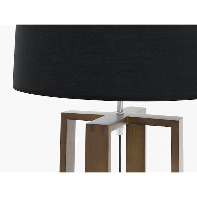 Amber Floor Lamp - Walnut, Black - 1