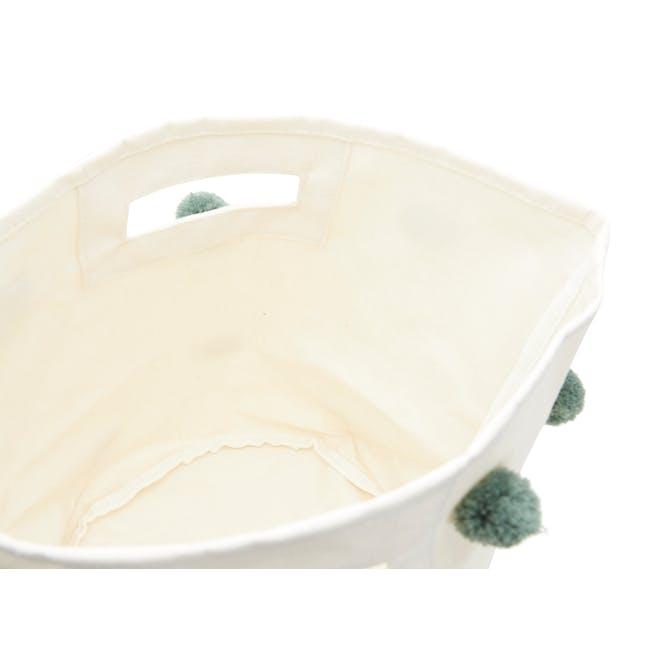 Kalee Pom Pom Storage Basket - Green - 1